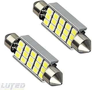 LUYED 2 X 360 Lumens Super Bright 2835 15-EX Chipsets 569 578 211-2 212-2 LED Bulbs Used For Dome light,Xenon White