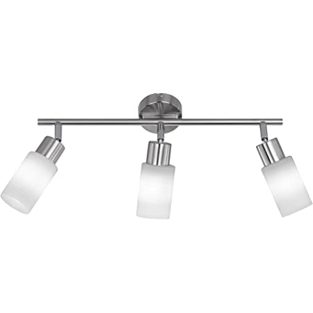 Deckenstrahler warmweiss Deckenspot inkl LED Deckenleuchte 6 flammig ELC LED Deckenlampe Edelstahl Glas schwenkbar /& drehbar Metall nickel matt chrom Spot 6 x 4W E14 LED Leuchtmittel A+