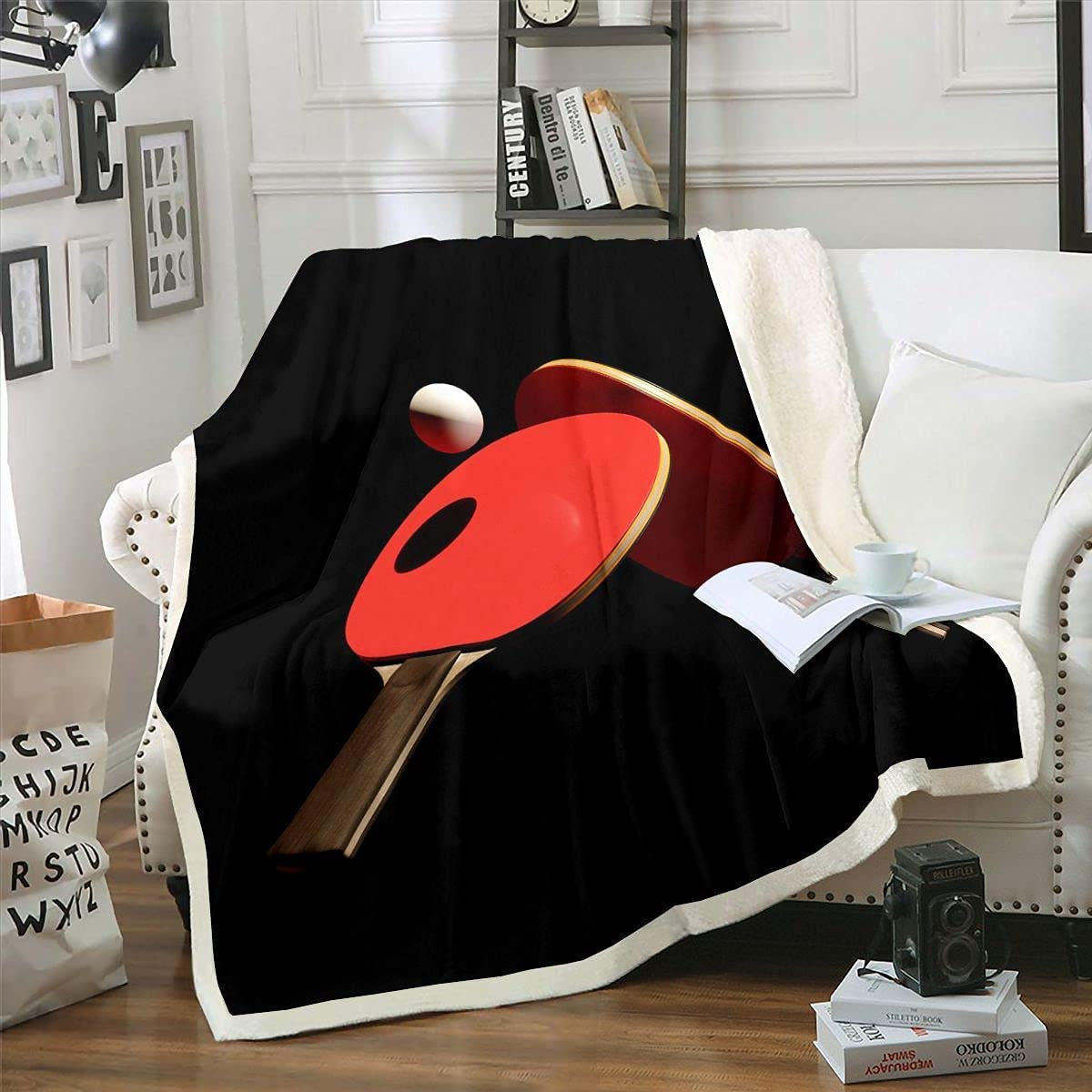 Erosebridal Table Tennis Sherpa Blanket Adults Kids Teens New Free Shipping Max 66% OFF for Pi