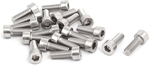 uxcell M5X14mm 316 Stainless Steel Fully Thread Hex Socket Cap Screw Bolt 20pcs