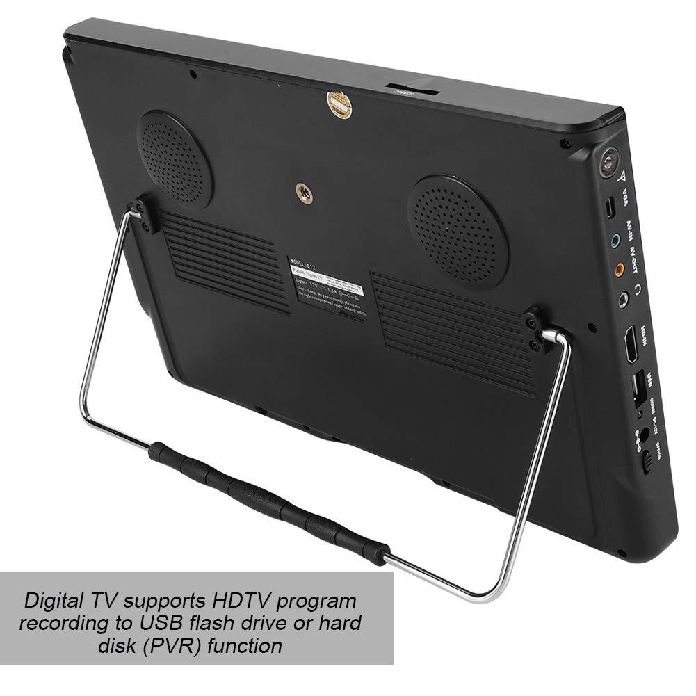 TV portátil, Mini Reproductor de televisión portátil HSHATA 1080P, televisión Digital de Mano DVB-T / T2 de 12 Pulgadas (LED 16: 9), para automóvil, Dormitorio, Cocina, etc.: Amazon.es: Electrónica