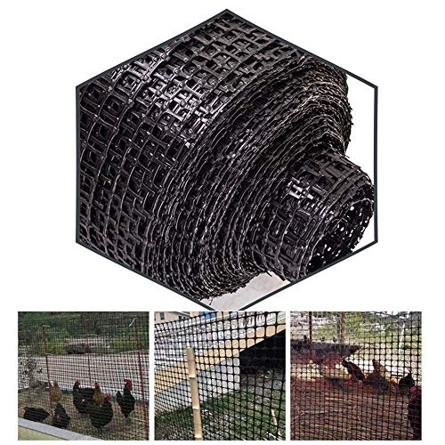 LJIANW Plastic Fencing, Green Plastic Mesh Barrier Safety Fence Netting For Balcony Safety Dog/Animal Barriers, Easy To Install, 50m Roll (Color : 1.6MM, Size : 1.2X50M)