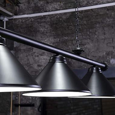 Wellmet 4 Light Kitchen Island Pendant Light, Vintage Industrial Retro Ceiling Light with Matte Black Shade,Modern Industrial