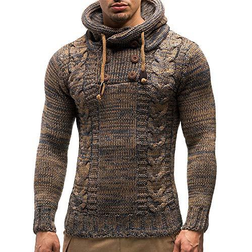 serliy😛Herren Pullover Hoodie Kapuzenpullover Strickpullover Longsleeve Sweater Sweatshirt Pulli Slim Fit Winter-Freizeit-Jacke