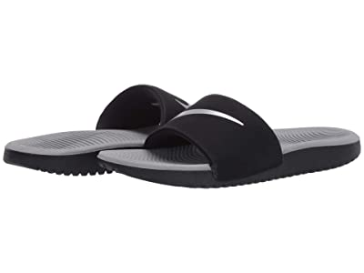 Nike Kids Kawa Slide (Little Kid/Big Kid) (Black/Metallic Silver/Particle Grey) Boys Shoes
