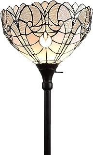 Amora Lighting Tiffany Style Floor Lamp Torchiere 72