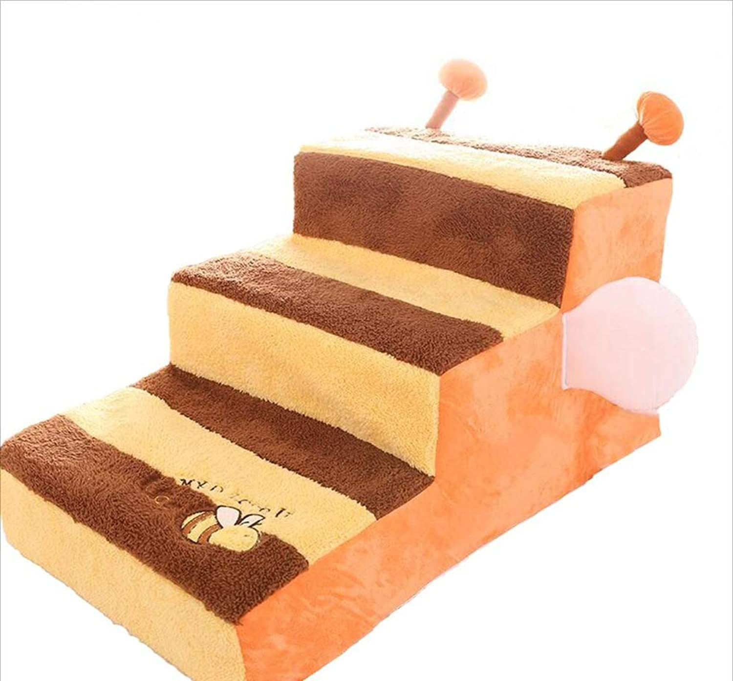 MODYL Pet cat dog with bed climbing stairs bed stairs Teddy small dog threelayer removable sponge slope