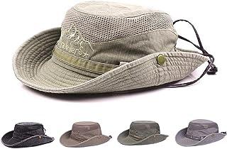 Obling Sun Hat, Fishing Hat UPF 50 Wide Brim Bucket Hat Safari Boonie Hat