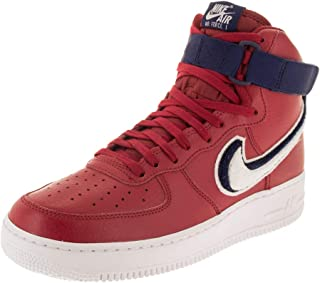 red high top basketball shoes
