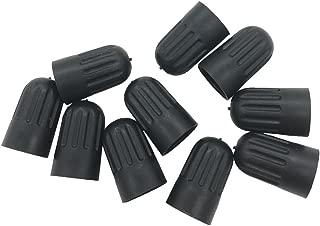 Germban 10pcs Plastic Black Tire Valve Stem Long Caps for TR20008 TPMS Valve Tire Cap