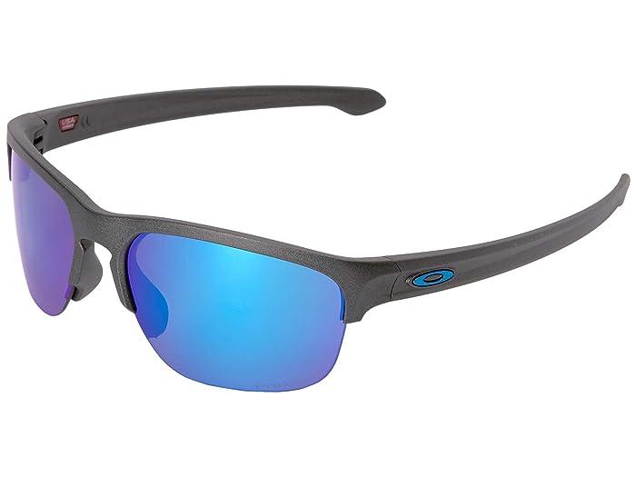 Oakley Sliver Edge (Steel w/ Prizm Sapphire Polarized) Sport Sunglasses