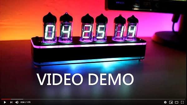NIXT CLOCK IV11 VFD Clock Vacuum Tubes Display With Light Sensor