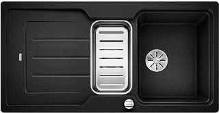 BLANCO Classic Neo 6 S, Küchenspüle aus Silgranit PuraDur, reversibel, Anthrazit-schwarz / mit InFino-Ablaufsystem, inklusive SmartCut-Schneidbrett und Ablauffernbedienung 524117