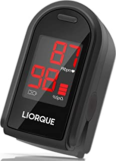 LIORQUE Pulse Oximeter Fingertip, Blood Oxygen Saturation Monitor for Pulse Rate, Heart Rate Monitor and SpO2 Level Meter,...