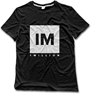 NATIEBNA 1 Million Dance Studio Logo Crew Neck T-Shirt Black for Men