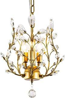 SXXYTCWL Pendentif Moderne Light 3 lumières Modernes Creative Crystal lustres Salon Crystal Plafond Pendentif Lampes de Re...