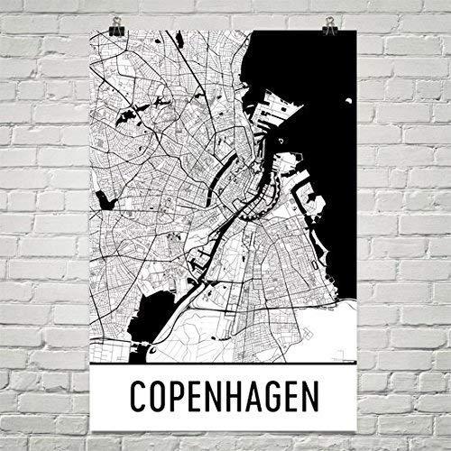 Copenhagen Poster, Copenhagen Art Print, Kopenhagen Muur Art, Kopenhagen Kaart, Kopenhagen City Map, Kopenhagen Denemarken City Map Art, Copenhagen Gift, Copenhagen Décor