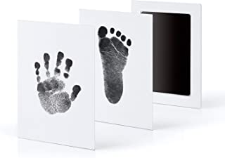 OZSTOCK Inkless Wipe Hand and Foot Print Kit Newborn Christening Baby Pet Keepsake Gift (Black)