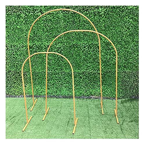 WANGF Arco de Accesorios de Boda Hierro Forjado Arco Geométrico Escenario Boda Guía de Flores Barniz de Hierro Hornear Hay 3 Piezas en un Juego Dividido en Grande Mediano y Pequeño