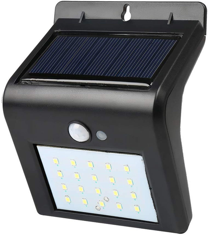 WIVION Solar Zaun Lichter, Solarleuchten im Freien, dekorative Lights20LED Gartenleuchten, wasserdichte Solarleuchten Wireless Auenleuchten für Terrasse, Zaun, Hof, Garten (Packung mit 4)