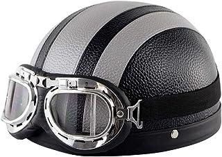 Leggero Open-Face Motorcycle Hemlets Half-Helmet con Calotta in ABS SJAPEX Professionale 3//4 Caschi Jet con Auricolare Bluetooth DOT e ECE Certificato per Scooter Motocicletta Moto