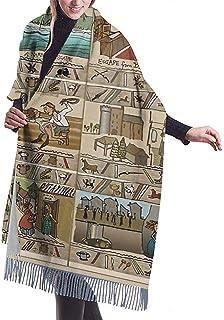 Yuanmeiju La historia continua del chal bufanda larga de cachemir de invierno para hombres y mujeres de Outlander