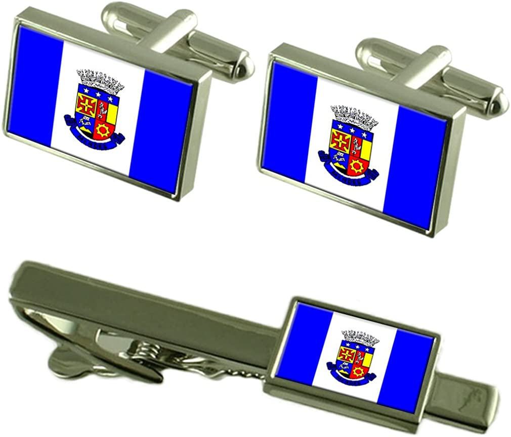 Mendes City Rio de Janeiro State Cufflinks Max 81% OFF Clip Flag Tie Free shipping on posting reviews Box Gif