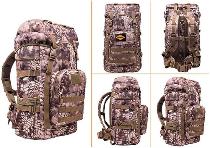 XQY Trekking sac à doss Back Sacs à dos de randonnée - Sac à dos de randonnée en nylon imperméable, sac de sport en montagne pour hommes et femmes, grande capacité, motif rouge 50L
