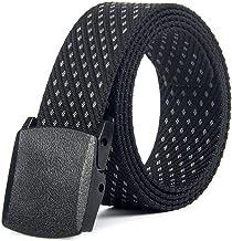 Fashion Belt Canvas belt canvas leisure belt Tactical outdoor belt Durable (Color : 02, Size : 120cm)