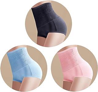 5e87cf6a29ad0 Femaroly Women Briefs High Waist Body Shaper Girdle Pure Color Postpartum  Triangle Panties(Pack of