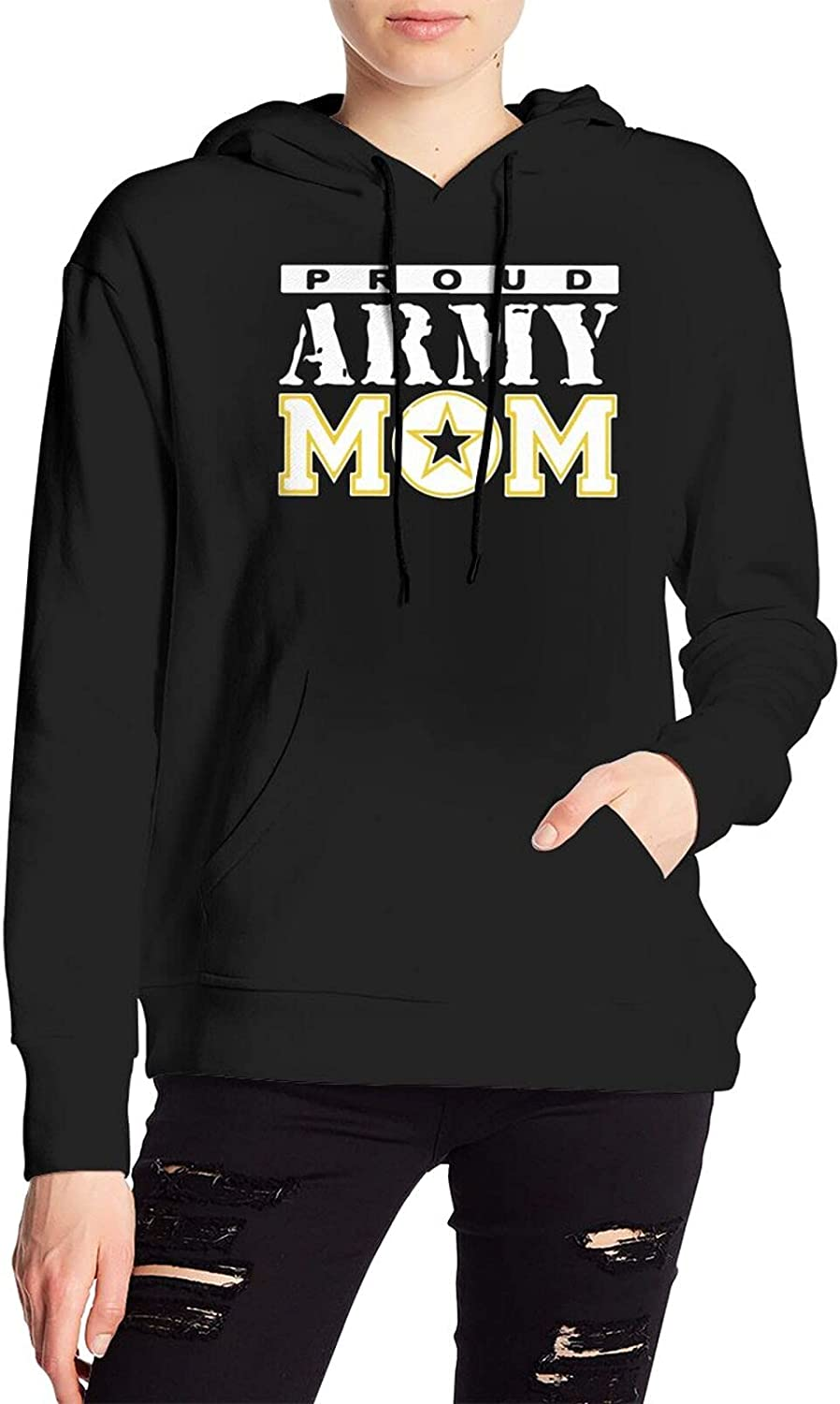 Proud Army Mom Sweater Fashion Hooded Sweatshirt With Pocket For Men'S Women