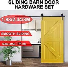 1.83m/2.44m/3m Sliding Barn Door Hardware Track Set Bedroom Interior Closet Home Kit (2.44m)