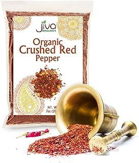 Jiva Organics Organic Crushed Red Pepper 7 ounce Bag - Chili Flakes Seasoning, 100% Natural & Non-GMO