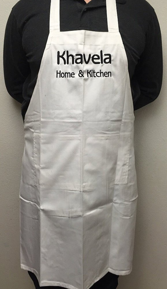 Custom embroidered apron with your words choice Daily bargain sale of design. Now Manufacturer regenerated product