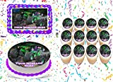 Grave Digger Cake Topper Edible Image Personalized Cupcakes Frosting Sugar Sheet (2' Cupcakes (12))