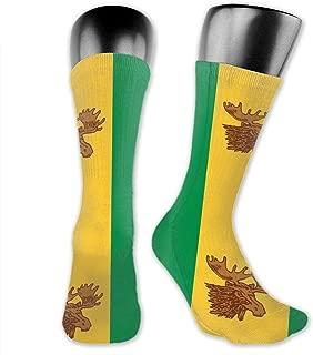 Adult Socks Moose Jaw Flags Fashion Funny Sport Socks Polyester