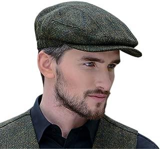 Peaky Blinders Cap for Men, Made in Ireland, 100% Irish Tweed, Green