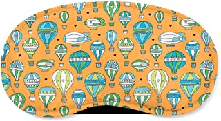 Hot Air Balloons & Zeppelin Orange - Sleeping Mask - Sleeping Mask