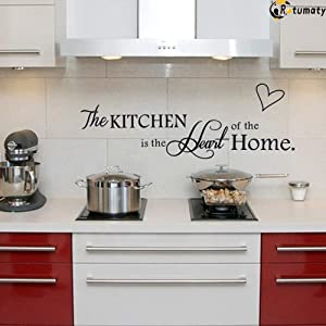 Rotumaty 'The Kitchen' Quote Wall Stickers Kitchen & Dining Room Wall Decal Vinyl Home Décor (Size B)