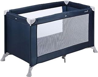 Safety 1st Soft Dreams Cuna de viaje plegable y portátil, adecuada para viajar, para bebés y niños 0 meses - 3 años, plegado compacto con bolsa de transporte, color Navy Blue