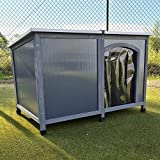FeelGoodUK Dog Kennel Twin Wall Plastic Panels Easy Clean Rain and Wind Protector Mini Large Extra Large...