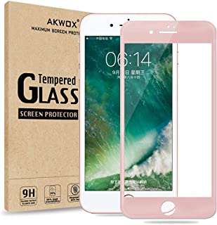(Pack of 2) Screen Protector for iPhone 7 Plus 8 Plus, Akwox Full Cover iPhone 7 Plus 8 Plus Tempered Glass Screen Protect...