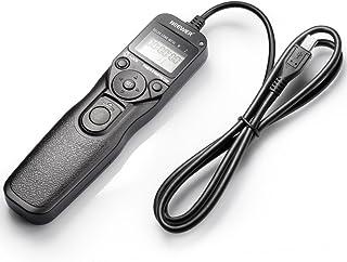 Neewer DSLR Cámara obturador con cable LCD temporizador de control remoto intervalómetro tiempo lapso fotografía dispositivo compatible con RM-VPR1 multi-terminal enchufe para SONY Alpha modelos