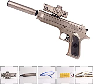 Anstoy Electric Toy Gun with Gel Ball Blaster Water for Outdoor Activities-Fighting Game as Awesome Birthday Present for Kids and Adults Outdoor (Silver)