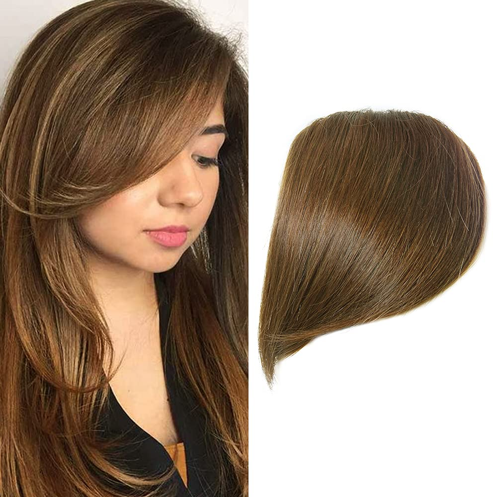 Shinon Popular shop is the lowest Max 56% OFF price challenge Thick Side Bangs Clip in Real Frin Human Hair