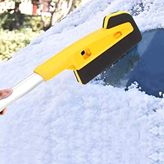 Yosoo Ice Brush Multifunctional Detachable Car Handle Snow Removal Brush Scraper Ice Shovel (25.2 x 4.9 x 4.5in)