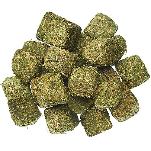 Timothy Hay Cubes 1 lb - 100% All Natural, High Fiber, Sun Cured Timothy Grass Food & Treat - Rabbits, Guinea Pigs, Chinchillas, Degus, Prairie Dogs, Tortoises, Hamsters, Gerbils, Rats & Small Pets