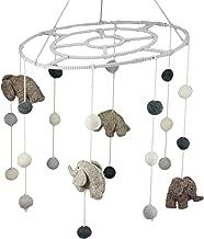 Ebros Fiona Walker England Handmade Organic Safari Elephant Nursery Mobile Baby Room Decor (Safari Elephant Mobile)