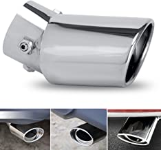 Dsycar Universal Stainless Steel Car Exhaust Tail Muffler Tip Pipes - Fit Pipe Diameter 1.5 to 2.3 inch (Silver)