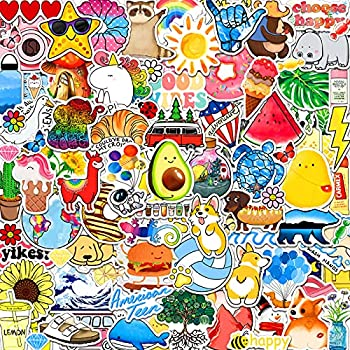 ANERZA 100 PCS Stickers Packs Cute Vsco Aesthetic Vinyl Stickers for Hydroflask Water Bottles Laptop Computer Skateboard Waterproof Sticker for Kids Toddlers Teen Girl Gifts Easter Basket Stuffer